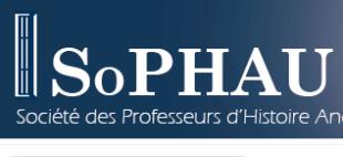 Assemblée générale de la Société des Professeurs d'Histoire Ancienne de l'Université – SoPHAU